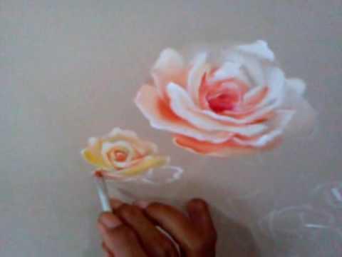 Cara Menggambar Bunga Mawar Menggunakan Akrilik Youtube