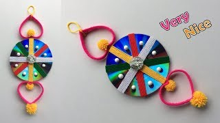 DIY How to Reuse Old Waste CD and Plastic Bottle Wall Hanging | Woolen Jhumar/craft idea out of wool