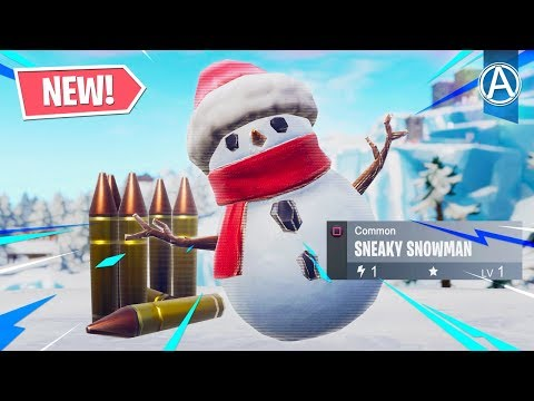 """NEW """"SNEAKY SNOWMAN"""" Gameplay! (Fortnite Battle Royale LIVE) thumbnail"""