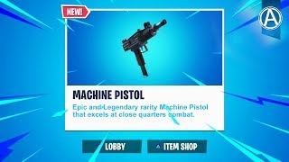 "NEW ""MACHINE PISTOL"" Update! // Pro Console Player // 1700+ Wins (Fortnite Battle Royale LIVE)"