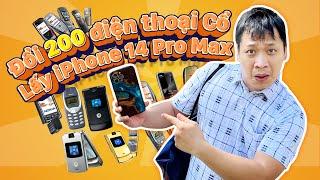 Cầm 200 con điện thoại cổ đổi iPhone 8 ai ngờ đổi đc 10 con iPhone X