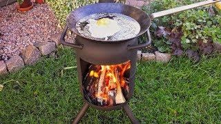 Outdoor Ofen - Terrassenofen selber bauen - Angler-Ofen 🔧