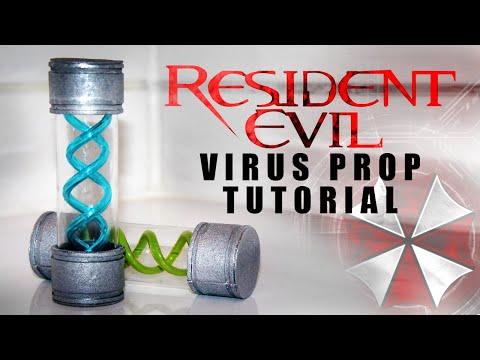 Resident Evil T-VIRUS AMPULLE TUTORIAL DIY