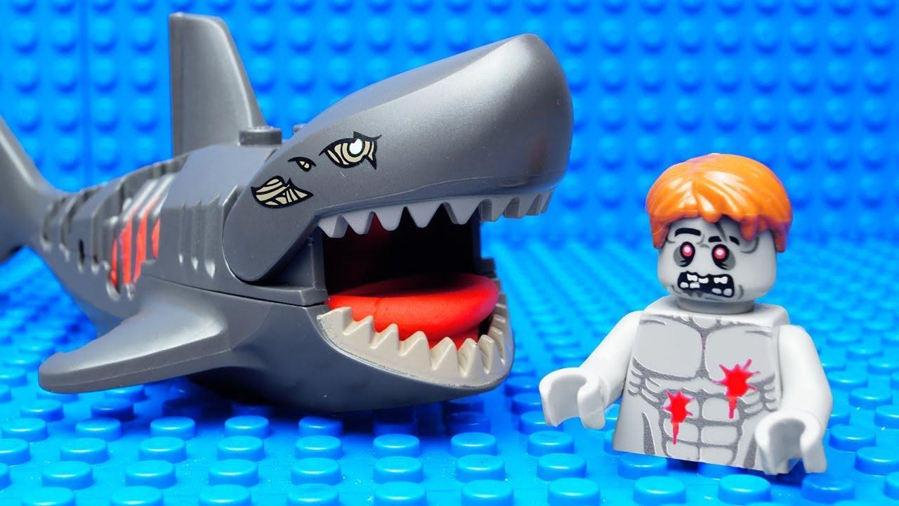 Lego Zombie Shark Attack - YouTube