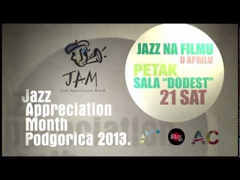 Advertising for Jazz on Film serie in Podgorica of JAM in Montenegro 2013