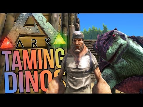 Ark Survival Evolved Gameplay - Taming a Turtle & Building Jurassic Park!