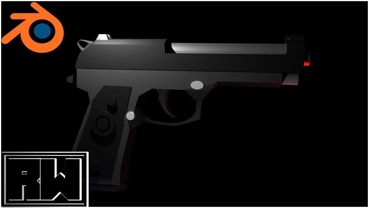 Modeling a Simple Gun| Blender Timelapse - YouTube
