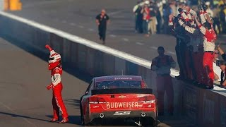 Harvick wins, Newman races in on final lap