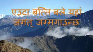 Nepali karaoke Maitighar with nepali lyrics
