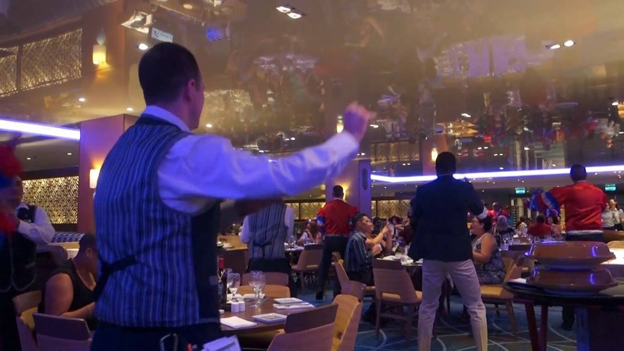 Carnival Vista Reflections Dining Room Gangnam Style Youtube