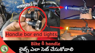 How to install end bar light in motorcycle