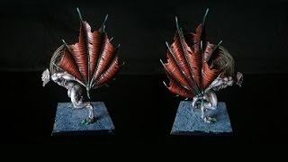 How to paint Dragon, Demon, or Bat Wings