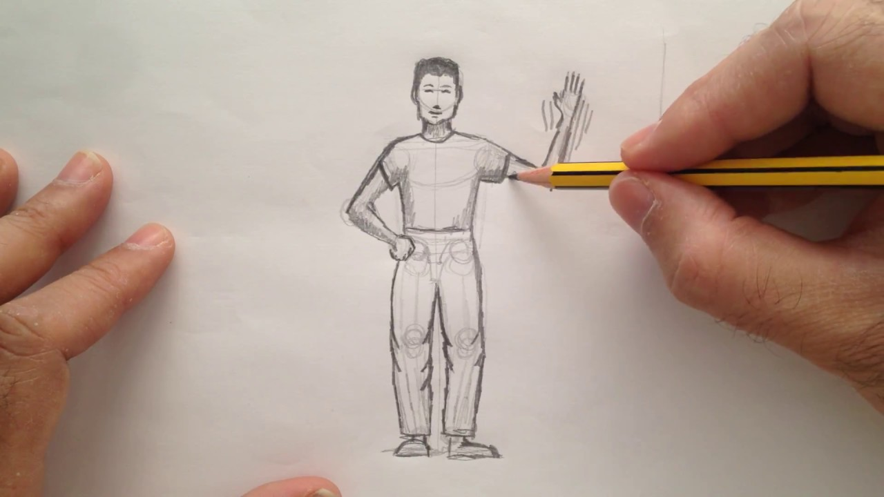 Cómo dibujar una figura humana #1
