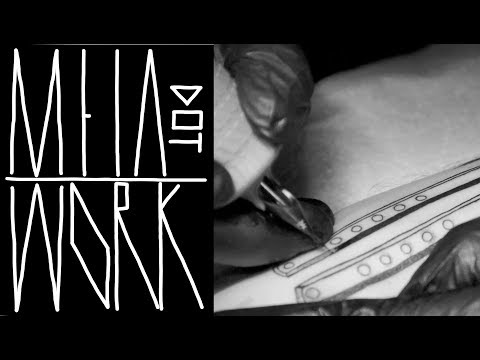 DOTWORK TATTOO TECHNIQUES | REAL TIME | BLACKWORK BUTTERFLY KNIFE by M E I A | NYC