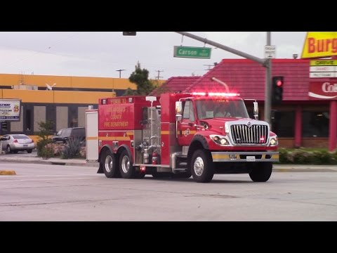 *RARE* LACoFD foam task force 10 and battalion 7 responding!