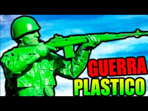 GUERRA DE PLASTICO !! A POR EL T-REX HELADO !! THE MEANS GREEN PLASTIC WARFARE Makiman