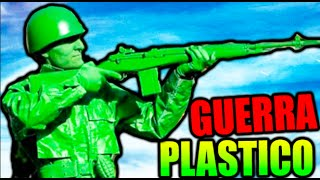 GUERRA DE PLASTICO !! A POR EL T-REX HELADO !! THE MEANS GREEN PLASTIC WARFARE Makiman