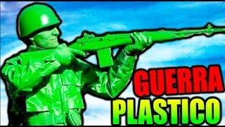 GUERRA DE PLASTICO !! A POR EL T-REX HELADO !! THE MEANS GREEN PLASTIC WARFARE Makiman thumbnail