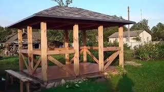 видео Строительство беседок из бруса