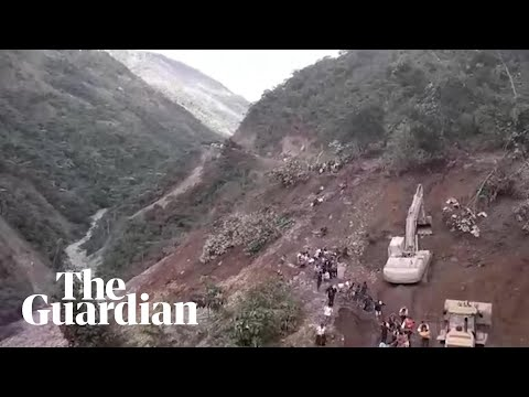 People swept away by mudslide as mountainside collapses in Bolivia
