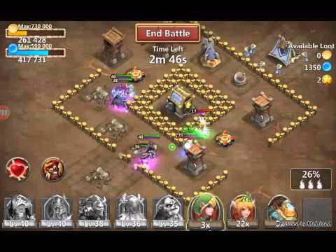 Castle Clash Death Knight Gameplay