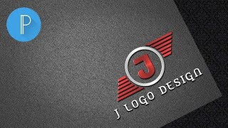 J Text Logo Design    How To Create Design On Pixellab    (Well Creation)