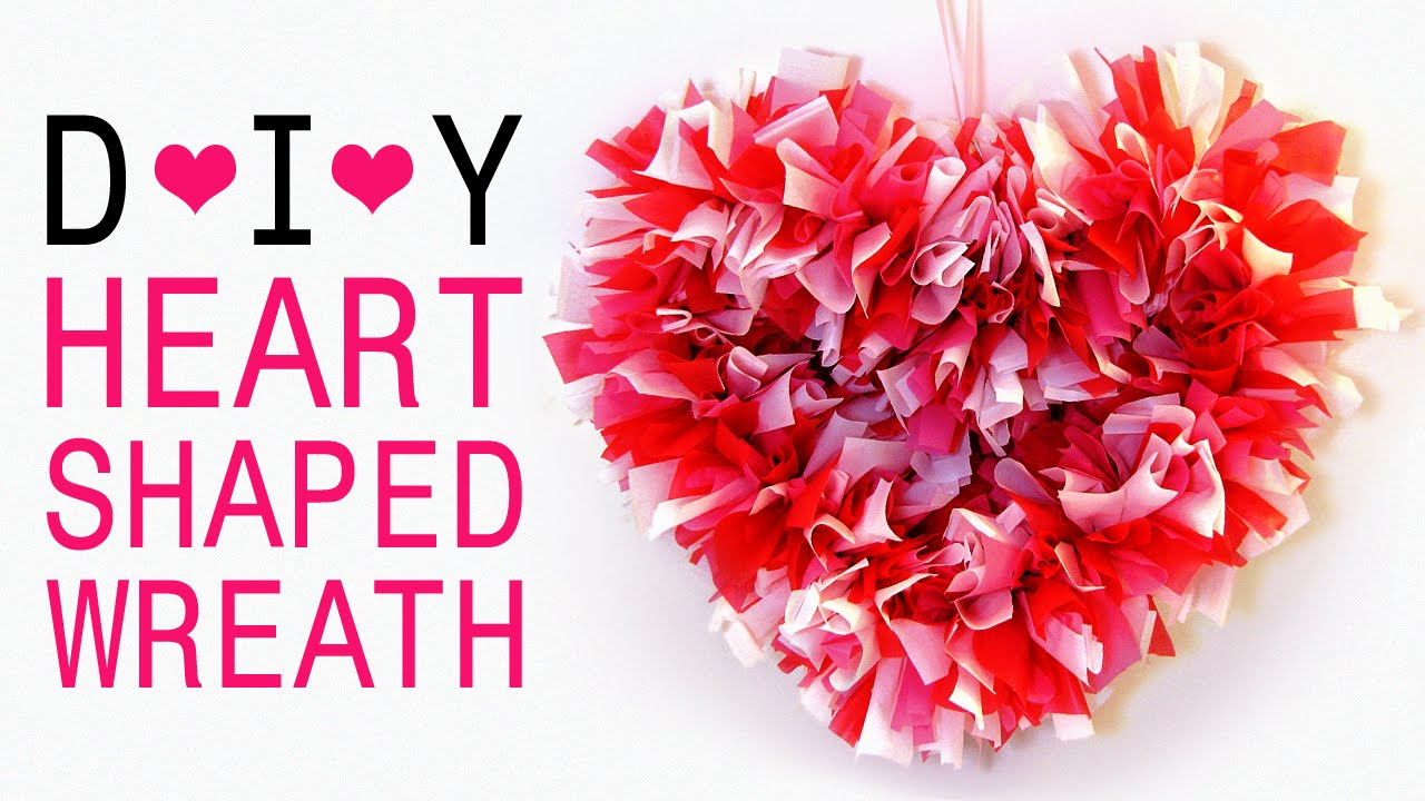 how to make a heart shaped wreath for valentine u0027s day bedroom