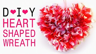 How To Make A Heart Shaped Wreath For Valentine's Day/bedroom Decoration