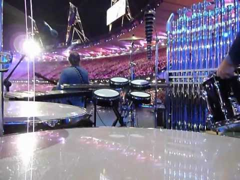 Mike Oldfield - London Olympics 2012 opening ceremony - Alasdair Malloy Percussion Camera