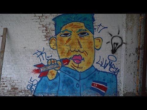 Secret Exploring Meet up! North Korea President Kim Graffiti Art!