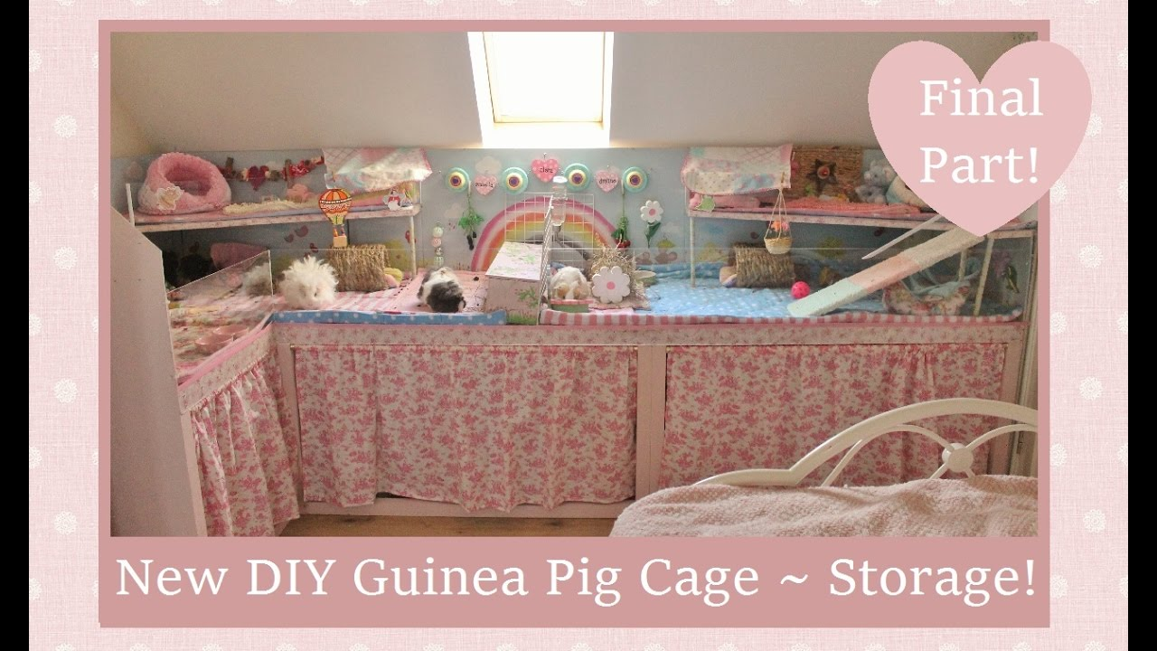 New Amp Improved Diy Guinea Pig Cage Final Part Youtube