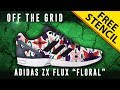 """Off The Grid: Adidas ZX Flux """"Floral"""" w/ Downloadable Stencil"""