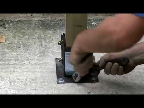 How To Install a Fence Post Onto a Concrete Base