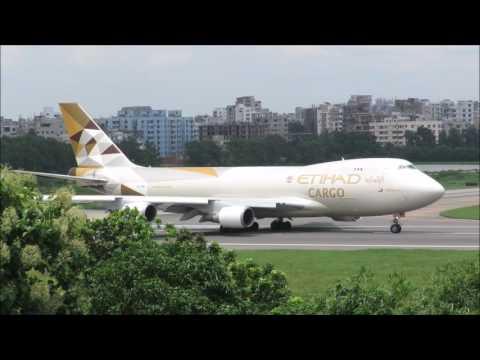 [HD] Etihad Cargo (Atlas Air) Boeing 747-400F [N476MC] Departure from Dhaka Airport