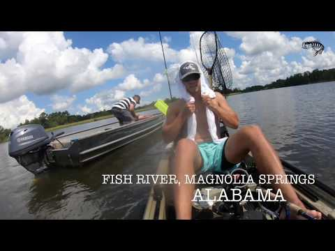 Kayak Fishing Fish River, Alabama