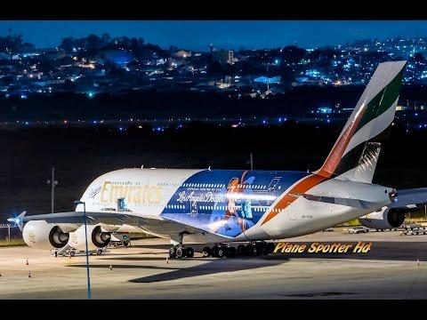 Airbus A380-800 emirates, o gigantes dos ares-  GRU AIRPORT (Aeroporto Internacional de Guarulhos)
