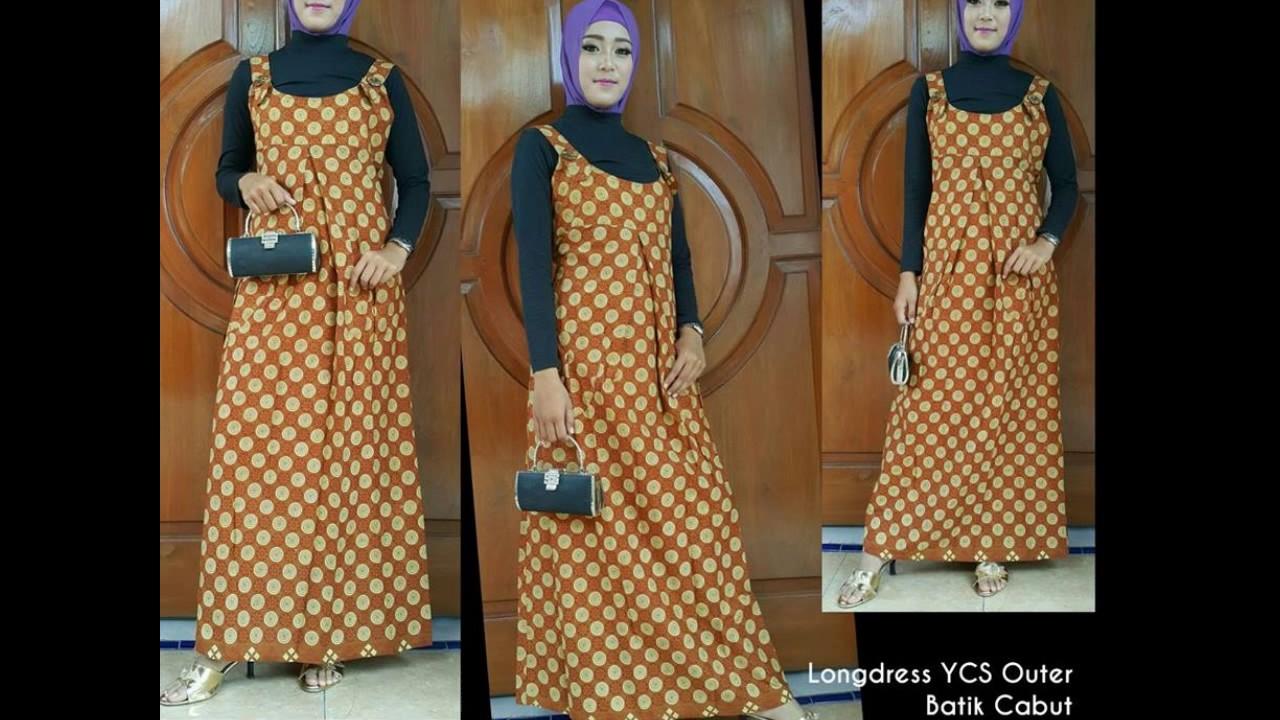 Wa 0812 2533 6662 Gamis Batik Kombinasi Polos Terbaru Gamis Batik
