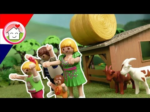 playmobil filmpje nederlands familie huizer op de boerderij - youtube