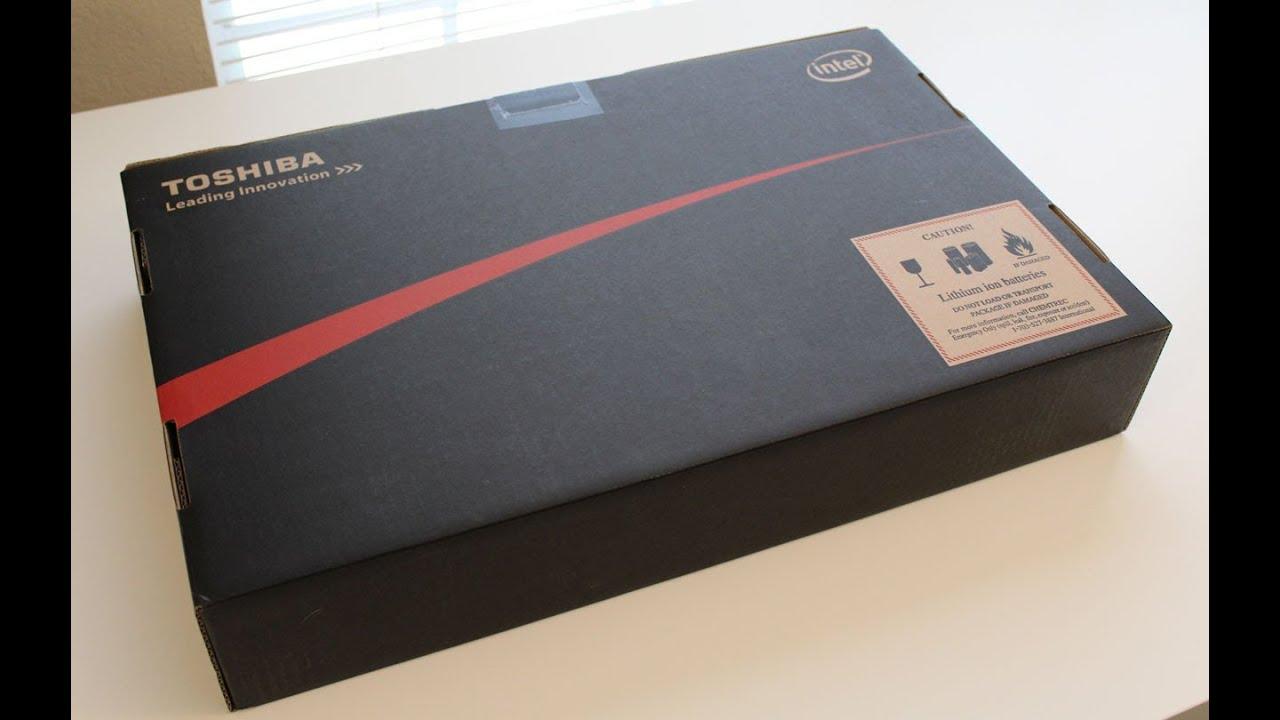 toshiba satellite laptop unboxing youtube