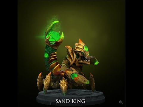 Dota 2 lord of the scouring dunes sand king set item youtube