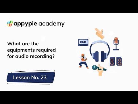 Audio recording equipment: Lesson 23