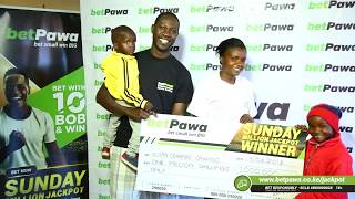 Ksh 10 for a 1 million!! - BetPawa Jackpot  winner Austin Odhiambo