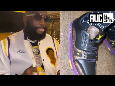 Rick Ross Pays Homage To Kobe Bryant With Custom Louis Vuitton Outfit