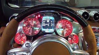 Pagani Huayra Start up and Drive Supercar at Lamborghini Miami top speed 217 miles per hour V12  AMG