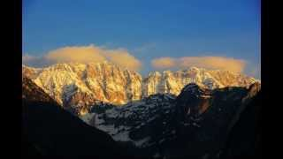 Julian Alps - clouds over mountains