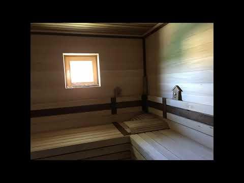 Баня в доме из клееного бруса