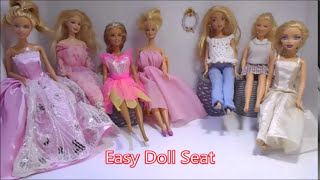 How to Make Doll Sofa plus seat or side table no glue! no sew! Easy.