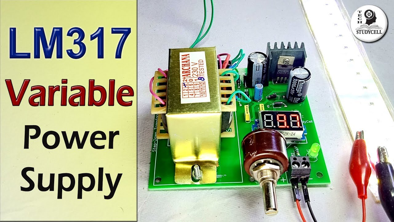 How to make Adjustable voltage DC Power Supply circuit using LM317 Veriable Lm T Resistor Wiring Diagrams on