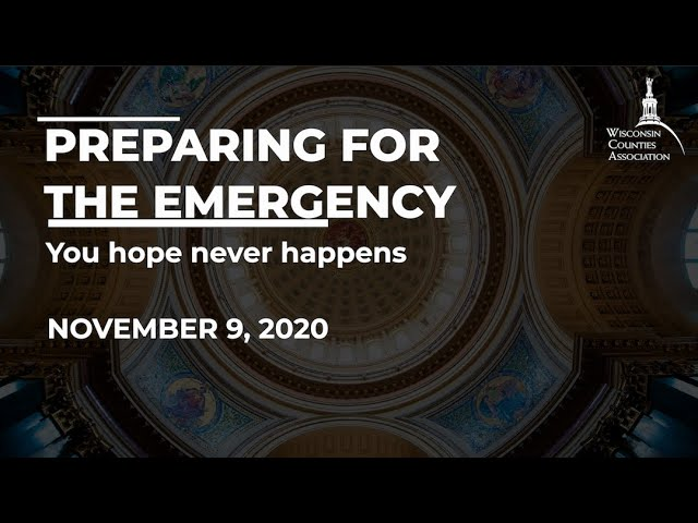WCA Annual Conference Virtual Workshop: Preparing for the Emergency You Hope Never Happens