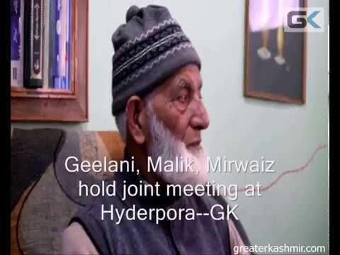 Geelani, Malik, Mirwaiz hold joint meeting at Hyderpora
